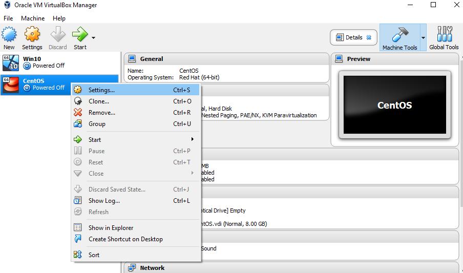 Cài đặt Server CentOS 7 với các thành phần trên VirtualBox